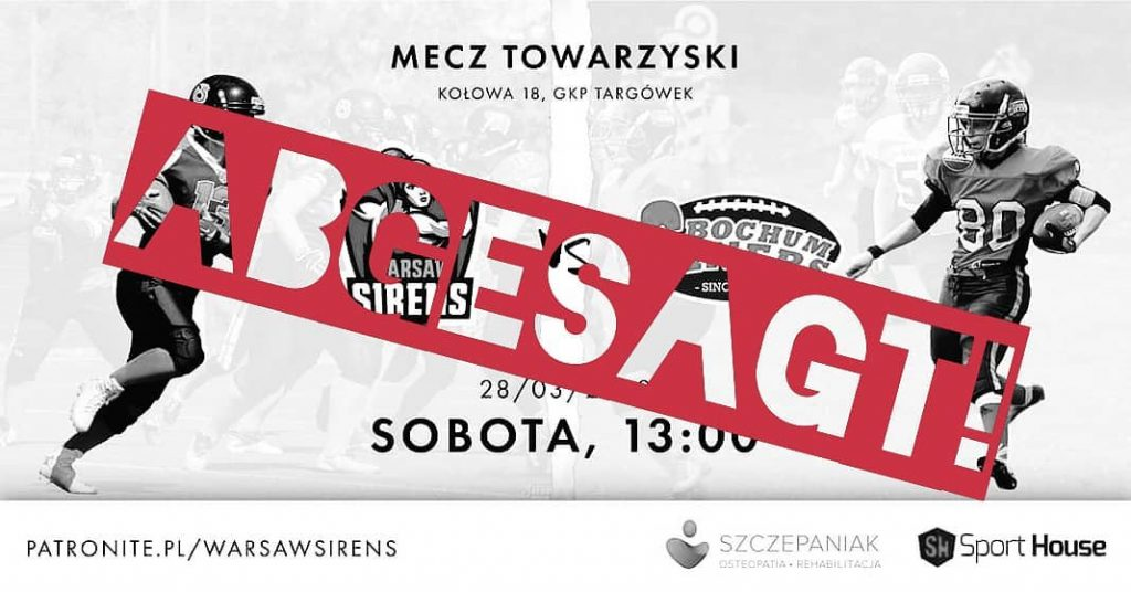 absage Warschau Spiel