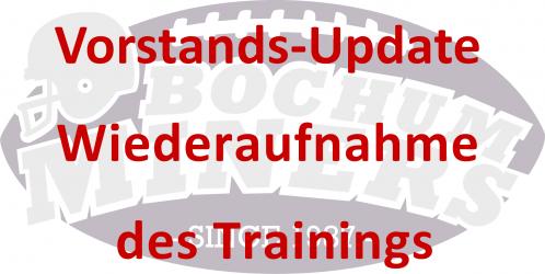 Vorstands-Update: Wiederaufnahme des Trainingsbetriebes